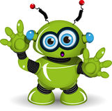 Zdziwiony robot Zdjęcie Stock