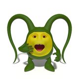 Zdziwiony zielony potwór Zdjęcie Stock