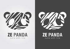 Ze Panda a perfect combination of Zebra and Panda. Royalty Free Stock Image
