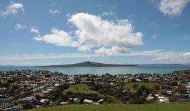 Zea neuf d'Auckland d'île de Rangitoto Image libre de droits
