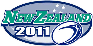 Zealand 2011 rugby ball stars Royalty Free Stock Photo