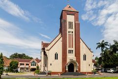 Colonial church in Bogor, Indonesia. Zebaoth church in Bogor on Java, Indonesia Royalty Free Stock Image