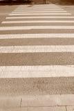 Zebraüberfahrt Stockfotos