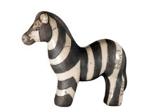 Zebra. Small zebra made of clay Royalty Free Stock Photography