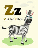 Zebra  with alphabet. 3d rendered illustration of Zebra  with alphabet Stock Photography