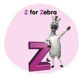 Zebra  with alphabet Royalty Free Stock Image