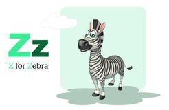 Zebra  with alphabet Royalty Free Stock Images
