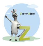 Zebra  with alphabet Royalty Free Stock Photo