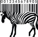 Zebra als streepjescode royalty-vrije illustratie