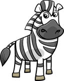 Zebra animal cartoon illustration Stock Photography