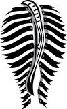 Zebra. Flags illustrated into the shape of the back of a zebra royalty free illustration