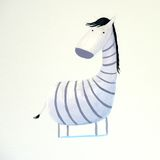 Zebra astratta del bambino fotografie stock