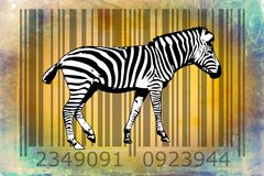 Zebra barcode animal design art idea Royalty Free Stock Images
