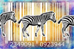 Zebra barcode animal design art idea Royalty Free Stock Photography