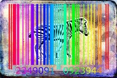 Zebra barcode animal design art idea Stock Photos
