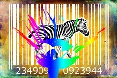 Zebra barcode animal design art idea Royalty Free Stock Photos