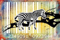 Zebra barcode animal design art idea Royalty Free Stock Image