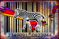 Zebra barcode animal design art idea Stock Image
