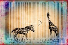 Zebra barcode animal design art idea Royalty Free Stock Photo