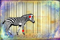 Zebra barcode animal design art idea Royalty Free Stock Images