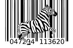 Zebra barcode design art idea Stock Photos