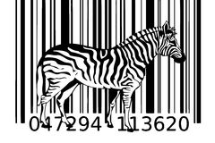 Zebra barcode design art idea Royalty Free Stock Image