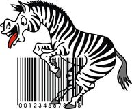 Zebra and barcode Royalty Free Stock Photography