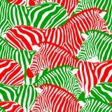 Zebra bezszwowy wzór Zdjęcia Royalty Free
