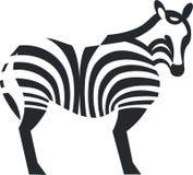 Zebra black silhouette. Zebra silhouette in black 01 stock illustration