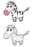 Zebra bonito dos desenhos animados ilustração stock