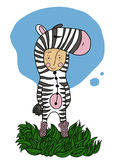 Zebra boy Stock Photography