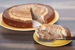 Zebra Cake - Homemade Recipes Stock Photos