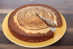 Zebra Cake - Homemade Recipes Stock Image