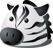 Zebra cartoon Stock Photography