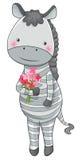 Zebra cartoon character Stock Image