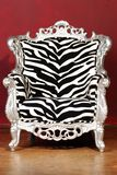 Zebra chair Royalty Free Stock Photos