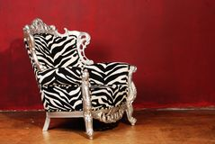 Zebra chair Stock Images