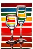Zebra colorida Fotografia de Stock