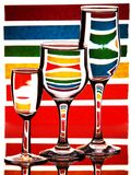 Zebra colorida Imagens de Stock Royalty Free