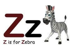 Zebra con l'alfabeto Immagini Stock