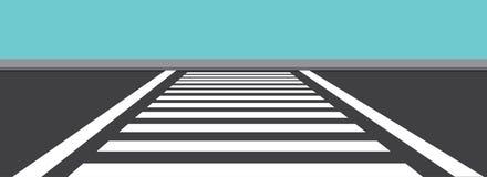 Zebra Crossing the Front Vector Illustration stock illustration