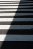 Zebra crossing. Traffic sign for pedestrian - zebra Stock Image