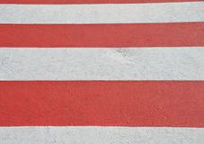 Zebra crossing. Close-up zebra crossing red and white Stock Images