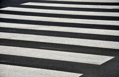 Zebra crossing. Empty zebra crossing on the big street Royalty Free Stock Photography