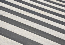 Zebra crossing. Empty zebra crossing,diagonal look,no people Royalty Free Stock Images