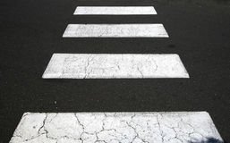 Zebra crossing. Close up of a zebra pedestrian crossing Royalty Free Stock Images