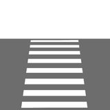 Zebra crossing. Illustration zebra crossing grey road Stock Photos