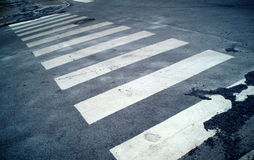 Zebra crossing. You know, for pedestrians royalty free stock images