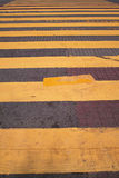 Zebra Crossing. Is an important part of the safe traffic Royalty Free Stock Images
