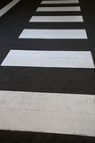Zebra Crossing. Close up shot of a Zebra Crossing on the road Royalty Free Stock Photos